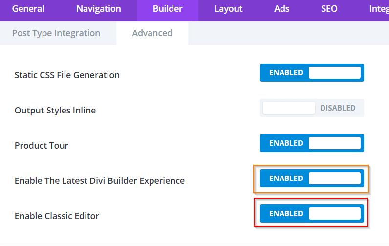 Divi - Nem éred el a backend nézetet, csak a Visual Buildert? 3